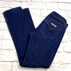 Hudson Jeans W402dks, color DEW dark denim jeans